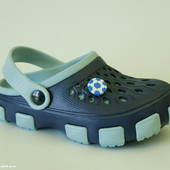 Кроксы Jose Amorales арт. 116125 dark blue-gray. football