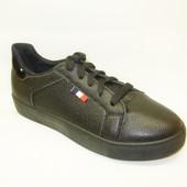 Слипоны черные шнурок Т645