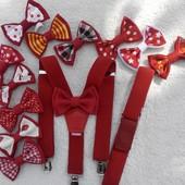 набор подтяжки и бабочка-галстук