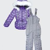 Комбинезон зимний (куртка+полукомбинезон) для девочек Ромашка