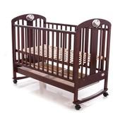 Детская кроватка Baby Care BC-435M темная орех