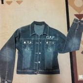 Джинсовая куртка короткая, размер L