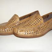 Летние туфли мокасины Rieker Antistress,р.38- 24,3 см