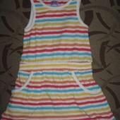 Трикотажне плаття платье (сарафан) F&F на 1 - 1.5 р. ріст 80 - 86 см
