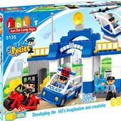 Конструктор 5135 для детей  Полиция, JDlT, крупные детали, аналог Лего