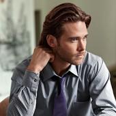 Шелковый фиолетовый галстук от ТСМ Tchibo Германия