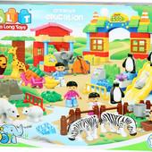 Конструктор 5095 детский Зоопарк JDlT , крупные детали, аналог Лего