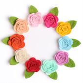 Заколочки цветочки из фетра