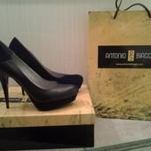 фирменные итальянские кожаные туфли лодочки фирма Antonio Biagge Антонио Биаджи производство Италия