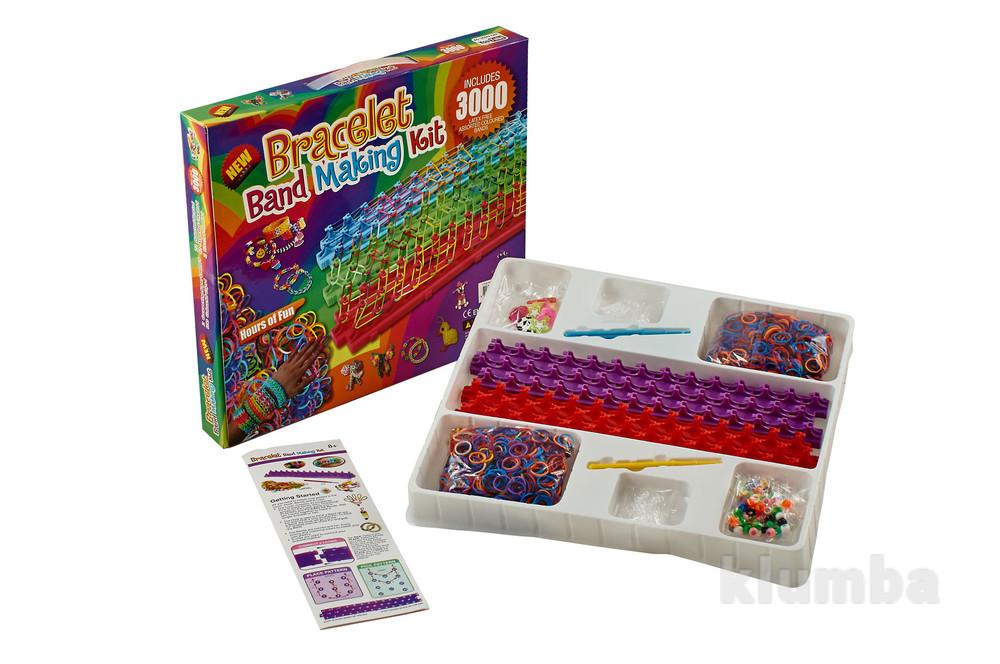 Резинки для  плетения браслетов loom bands 2 станка 3000 bracelet band фото №1