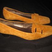 37 р-р, шикарные замшевые туфли Gabor, качество и комфорт!