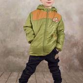 Куртка для мальчика демисезонная Спорт (зеленый) 03-00565-1