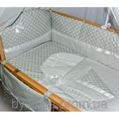 Комплект постели в кроватку для новорожденных+Конверт для новорожденного-8 ед