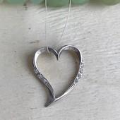 Подвес серебряный кулон Сердце для тебя