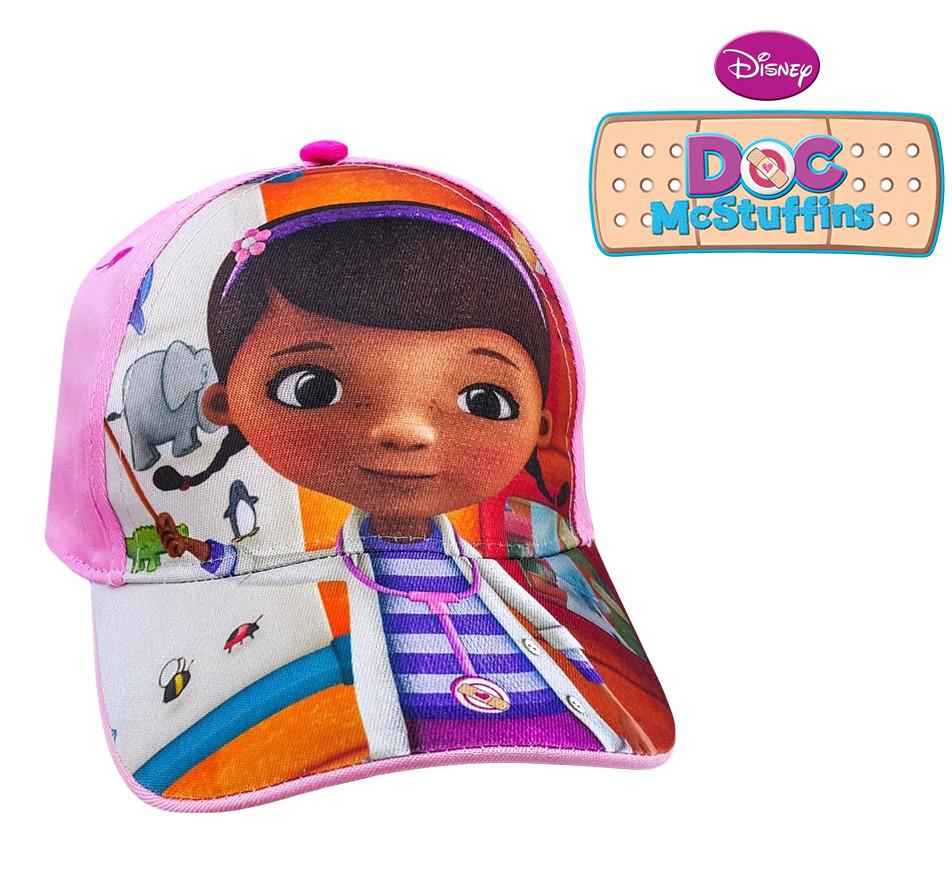 Бейсболка кепка детская розовая доктор плюшева, бренд disney фото №1