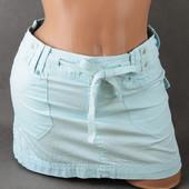 Короткая нежного голубого цвета юбка Pulp, S размер