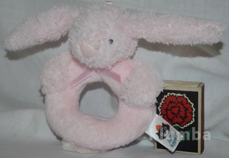 Фирменная Нежная погремушка зайка зайчик кролик Jellycat фото №1