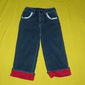 джинсовые бриджи -рюшики 5-6 лет