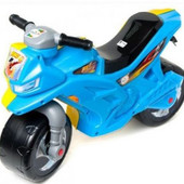 Мотоцикл Патриот Желто-голубой Орион 501 пластиковый велобег сине-желтый