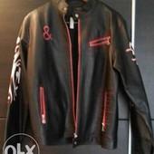 Куртка черная мужская с принтами