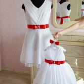 Нарядное платье Мама+Дочка Рафаель код. 500-036