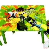 Детский столик и два стульчика Ben 10