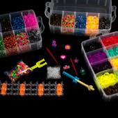 Большой набор 12000 резинок для плетения браслетов Rainbow loom!