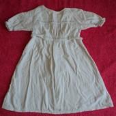Фирменное платье крестильная рубашка на 6-9 мес. байковое