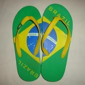Фирменные шлепки вьетнамки Brazil 25 см р.39