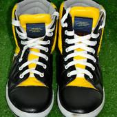 Мужские высокие кеды IK-834 (черный+желтый)