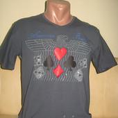 Мужская футболка графит Armani, размер только M, Турция хлопок