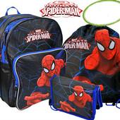 Комплект. Ранец школьный ортопедический Spider-Man + пенал +сумка