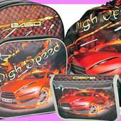 Ранец рюкзак школьный детский+пенал+сумка