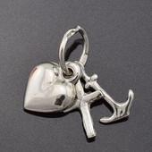 Подвес серебряный кулон Символ вера, надежда, любовь 3373