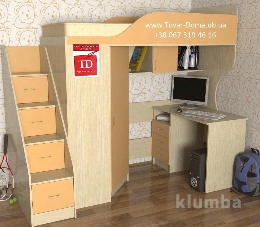 Бесплатно доставим кровать со столом и шкафом фото №2