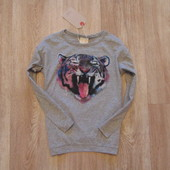 #19. Новый стильный реглан Zara для девочки, размер 4-5 лет.