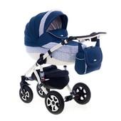 Универсальная коляска 2 в 1 Adamex Barletta 245W, синий с голубым (принт)