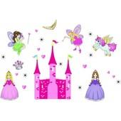 Интерьерная наклейка на стену для девочки Принцессы (ay833)