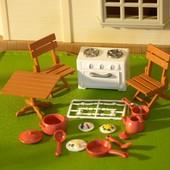 Happy Family маленькая мебель столовая кухня еда посуда уникальный набор