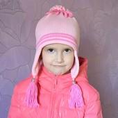 Деми шапочка для девочки «под хвостик».