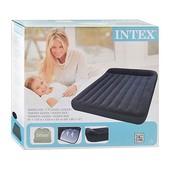 Надувной матрас Intex 66769 с велюровым покрытием+сумка