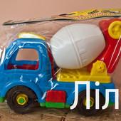 Игрушечная машинка-конструктор Бетономешалка,Кран,Самосвал,мотоцикл  Toys Plast