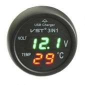Цифровой авто термометр с вольтметром VST-706