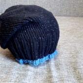 Женская вязанная шапка чулок. Ручная работа!