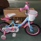 Детский двухколесный велосипед Азимут Angel Ангел для девочек на 14, 16, 20 д