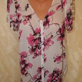 Блуза шифоновая цветочным принтом