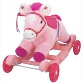 Чудокачалка   Поющий пони  розовый, звук