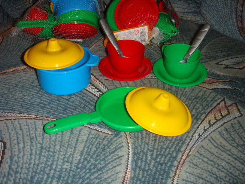 Набор 10элементов основной посудки для песочницы ролевых игр для детской кухни фото №1