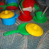 Набор 10элементов основной посудки для песочницы ролевых игр для детской кухни