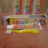 Дитяча зубна паста  Rabbit з щіточкою